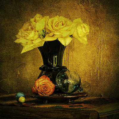 Photograph - Yellow Roses by Sandra Selle Rodriguez