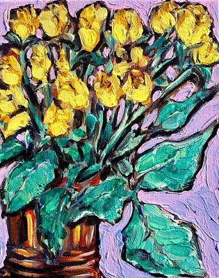Painting - Yellow Roses by Sheila Tajima