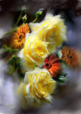 Yellow Roses Art Print by Stephen Lucas