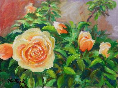 Painting - Yellow Roses by William Reed