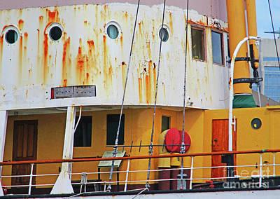 Photograph - Yellow Rust Bucket by Randall Weidner
