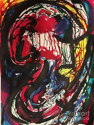 Painting - Yellow Scream by Lynne Schulte
