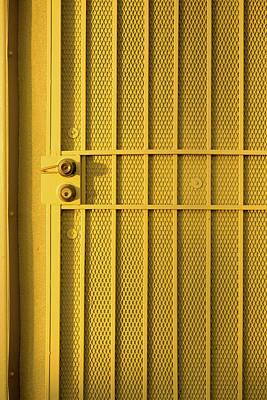 Yellow Security Door Venice Beach California Art Print