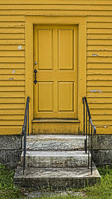 Yellow Shaker Door Art Print