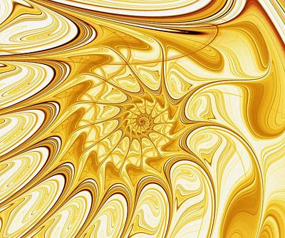 Curves Digital Art - Yellow Shell by Anastasiya Malakhova