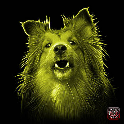 Painting - Yellow Sheltie Dog Art 0207 - Bb by James Ahn