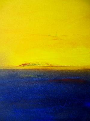 Yellow Sky 2 Art Print