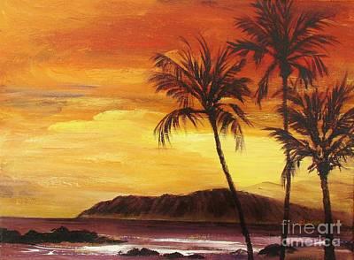 Fruit Tree Art Painting - Yellow Sky by Eileen Lovre