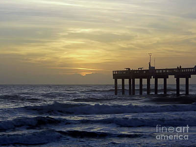 Photograph - Yellow Sky Over The St Augustine Pier by D Hackett