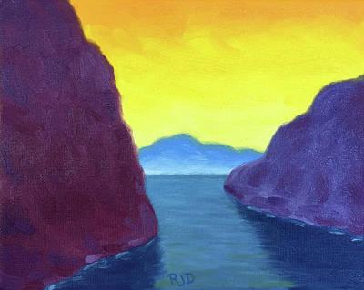 Painting - Yellow Sky by Robert J Diercksmeier