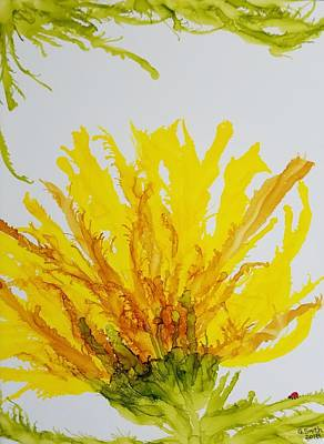 Painting - Yellow Spider Mum by Gerry Smith