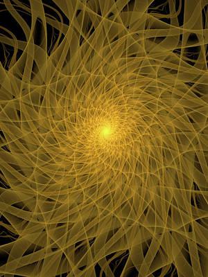 Contemporary Digital Art - Yellow Spiral by Tim Abeln