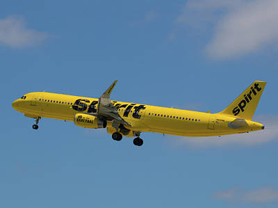 Photograph - Yellow Spirit Airplane Takes Flight At Fll by Dart and Suze Humeston