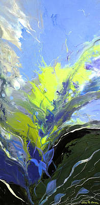 Painting - Yellow Splash by Gina De Gorna