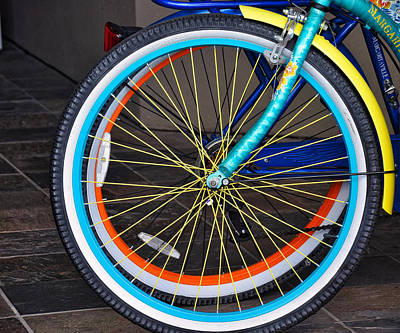 Photograph - Yellow Spokes by Linda Brown