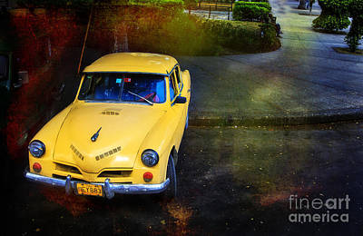 Photograph - Cuban Yellow Sports Car by Craig J Satterlee
