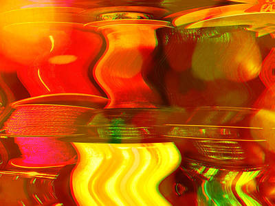 Digital Art - Yellow Spot by Christian Rutz