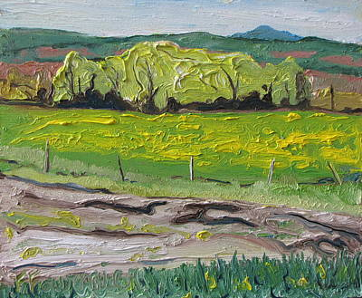 Contry Painting - Yellow Spring Movement Ways Mill Quebec Canada  by Francois Fournier