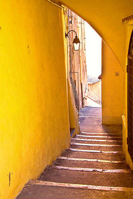 Photograph - Yellow Stairs by Harry Spitz
