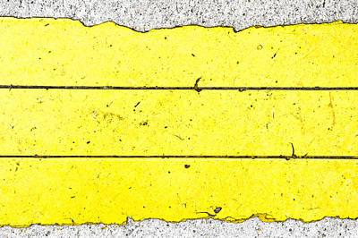 Asphalt Photograph - Yellow Stone by Tom Gowanlock