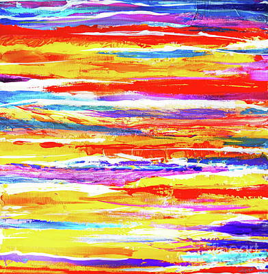 Painting - Yellow Stripe by Expressionistart studio Priscilla Batzell