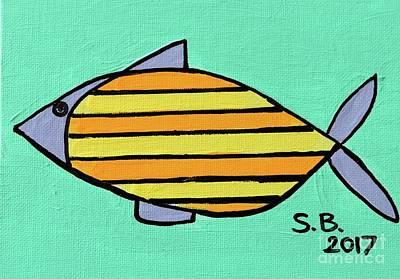 Painting - Yellow Stripe by Sean Brushingham
