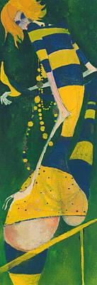 Painting - Yellow Stripes by Maya Manolova