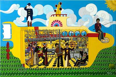 Sgt Pepper Beatles Painting - Yellow Submarine by Rosie Harper