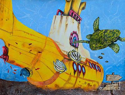 Mccartney Drawing - Yellow Submarine by Scott Parker