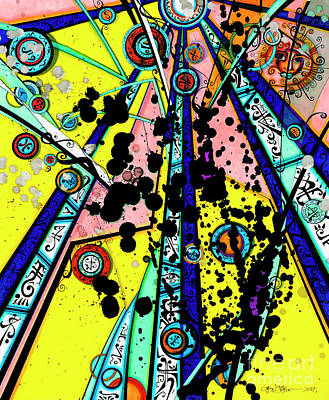 Drawing - Yellow Sun by Joey Gonzalez