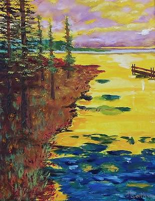Painting - Yellow Sunset by Mike Caitham