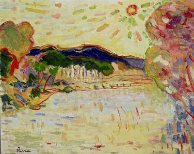 Painting - Beynac Et Cazenac , Dordogne , Yellow Sunshine  by Pierre Van Dijk
