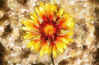 Yellow Sunshine Art Print by Shirley Stalter