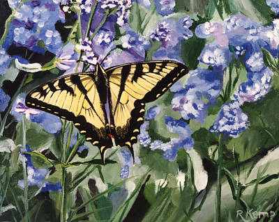Painting - Yellow Swallowtail by Rebeca Gallant