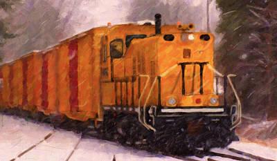 Digital Art - Yellow Switcher by Chuck Mountain