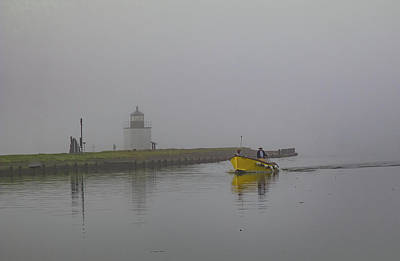 Photograph - Yellow Taxi At Derby Lighthouse by Jeff Folger