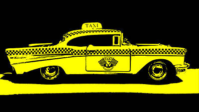 Photograph - Yellow Taxi by Nathan Little