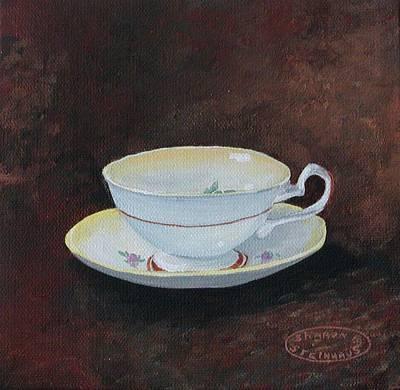 Yellow Teacup Art Print by Sharon Steinhaus