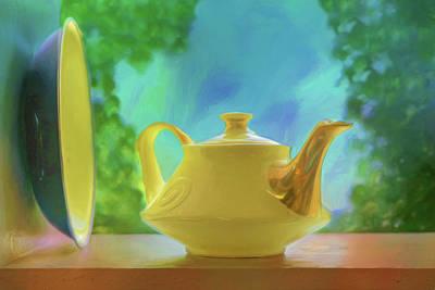 Photograph - Yellow Teapot And Bowl by Nikolyn McDonald