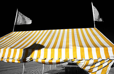 Photograph - Yellow Tent In Cape May Fusion by John Rizzuto
