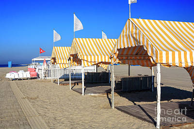 Photograph - Yellow Tents At Cape May by John Rizzuto