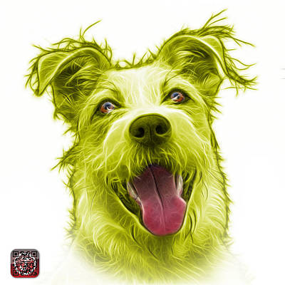 Painting - Yellow Terrier Mix 2989 - Wb by James Ahn