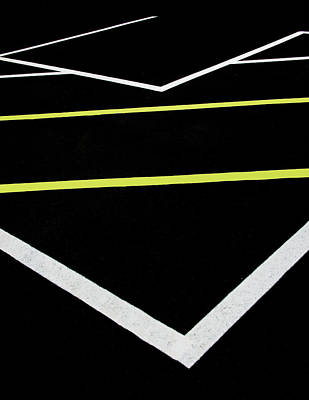 Photograph - Yellow Traffic Lines In The Middle by Gary Slawsky