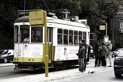 Photograph - Yellow Tram, Lisboa by Lorraine Devon Wilke