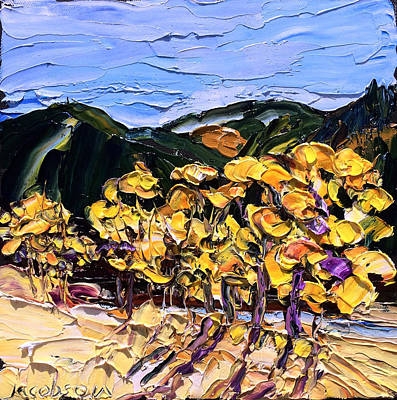 Painting - Yellow Trees by Carrie Jacobson