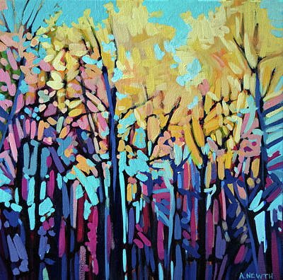 Wall Art - Painting - Yellow Trees In Summer  by Alison Newth