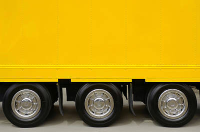Trailer Photograph - Yellow Truck by Carlos Caetano