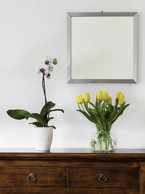 Photograph - Yellow Tulips And Orchids by Alfio Finocchiaro