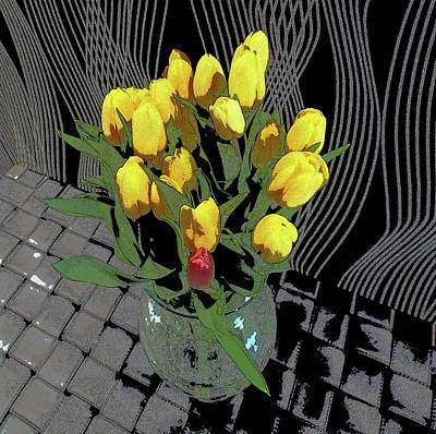 Photograph - Yellow Tulips by David Pantuso