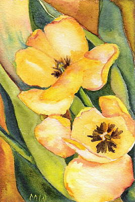 Painting - Yellow Tulips by Marsha Woods
